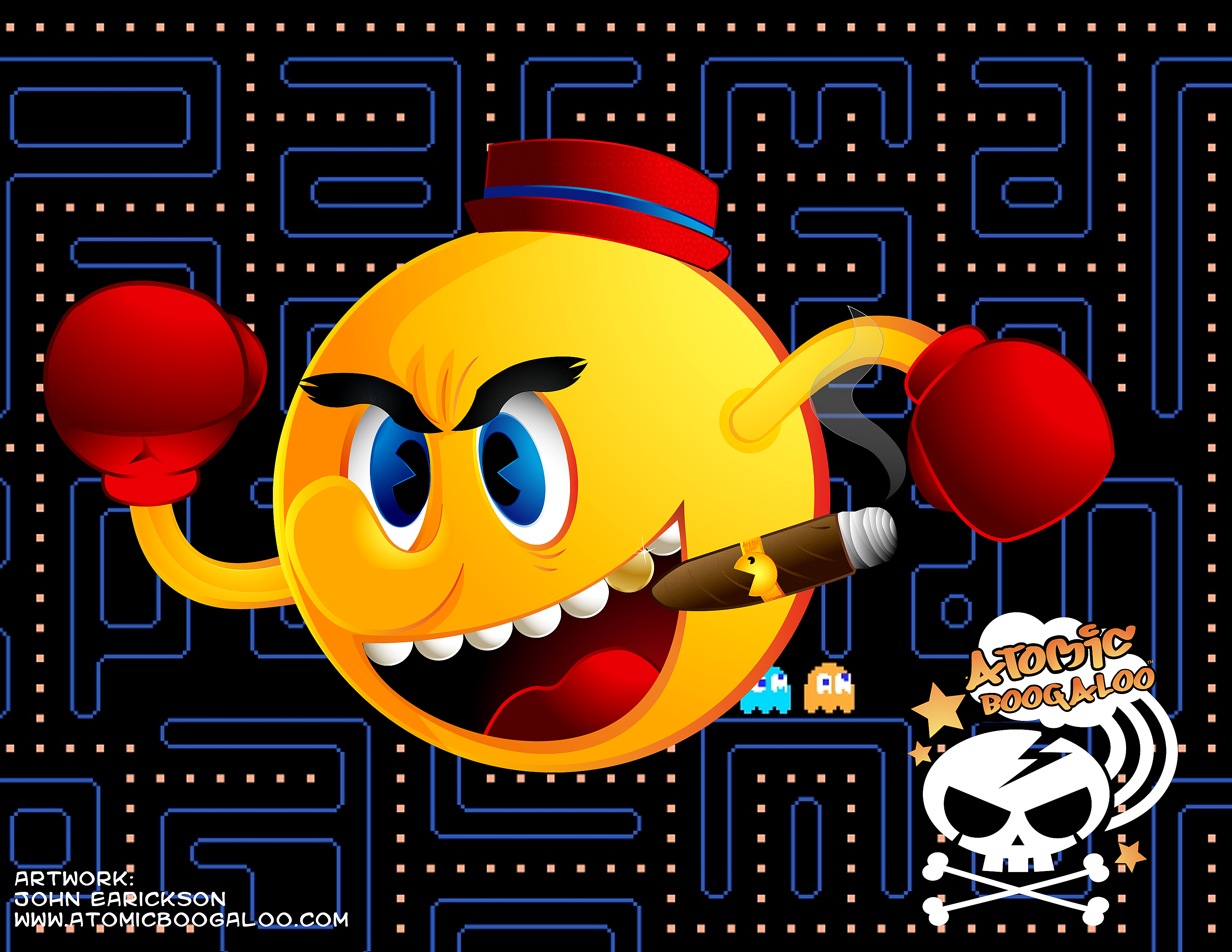 Pac-man Client illustration
