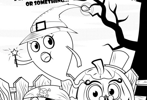 Free Halloween Coloring book page